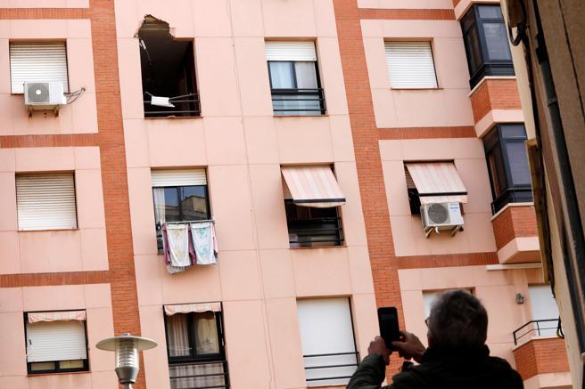 Fachada pisos afectados por la explosión
